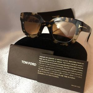 Tom Ford Sunglasses Pia Tortoise Shell